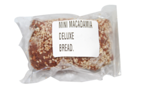 Deluxe macadamia seeded bread mini loaf
