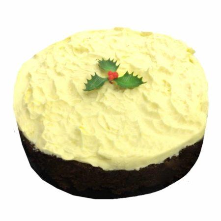 Banting Christmas Cake-12cm Iced xmas cake