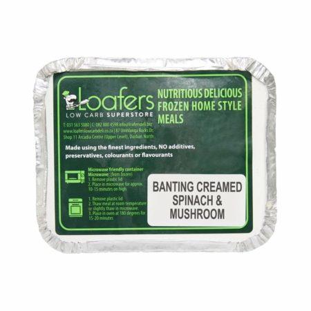 Banting creamed spinach & mushroom